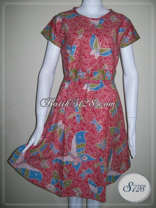 Baju Dress Batik Di Toko Online Batik Murah Di Kota Solo [BLS388P]
