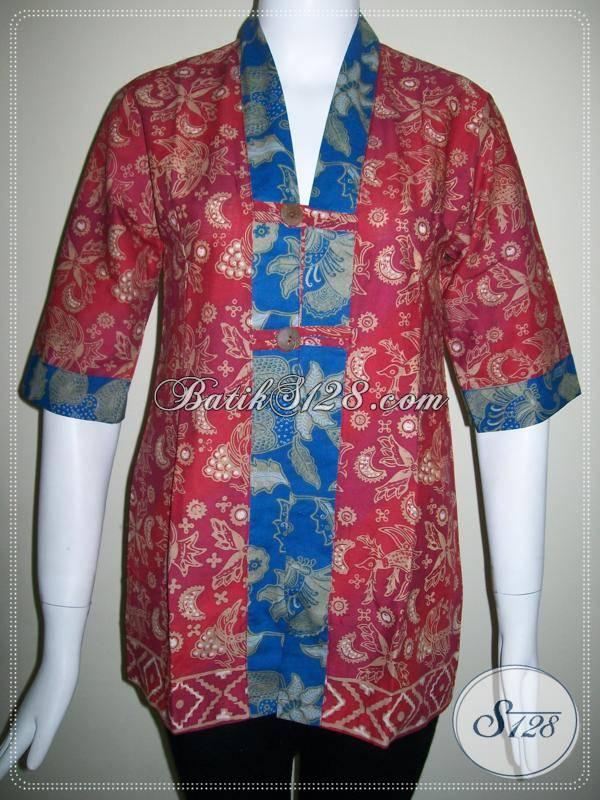 Baju BAtik Wanita Asli Solo,Blus Batik Wanita Trendy Dan Modern [BLS398CT-S]