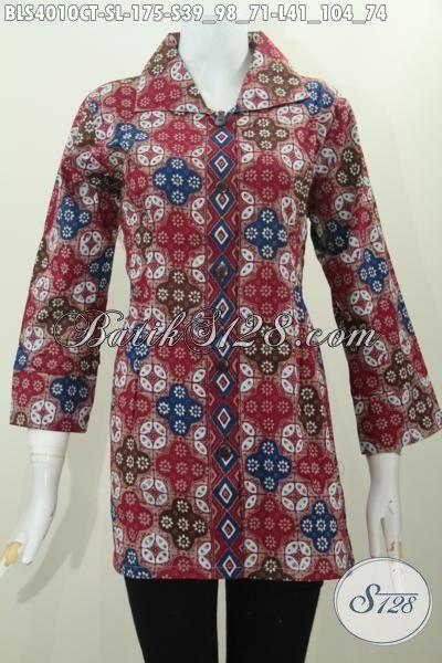 Batik Blus Solo Motif Keren Banget, Busana Batik Spesial Buat Wanita Muda Dan Dewasa Proses Cap Tulis Dengan Model Terbaru Yang Bikin Penampilan Cantik Maksimal [BLS4010CT-L]