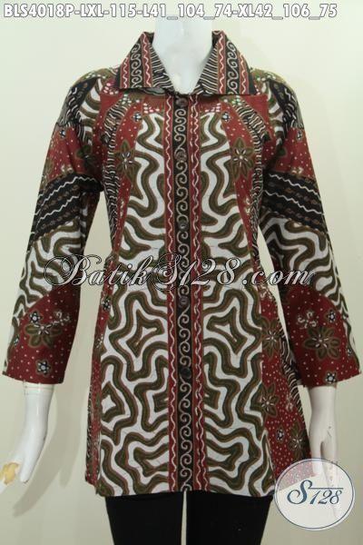 Sedia Pakaian Batik Formal Buat Wanita Dewasa Baju Blus Klasik