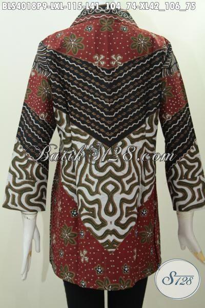 Toko Baju Batik Online Jual Blus Batik Klasik Motif Milo Desain Mewah Motif Elegan Proses Printing, Tampil Gaya Tidak Harus Mahal, Size S – M – L – XL