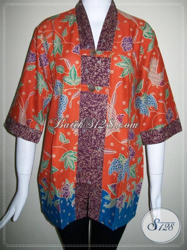 Baju Batik Wanita Dan Blus Batik Model Terbaru Dan Terlaris [BLS405P]