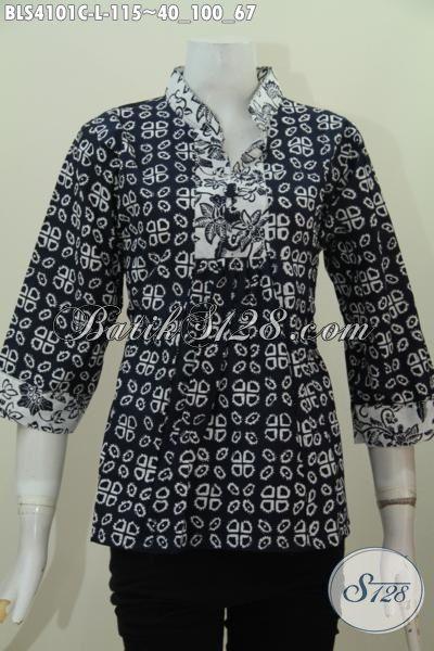 Baju Blus Batik Warna Hitam Motif Unik Nan Trendy Pakaian