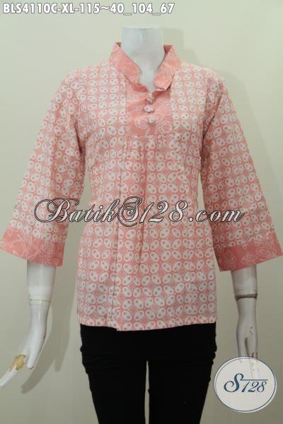 Jual Online Pakaian Batik Permepuan Dewasa harga 100 Ribuan Dengan Kwalitas Bagus Bahan Adem Motif Trendy Proses Cap, Size XL