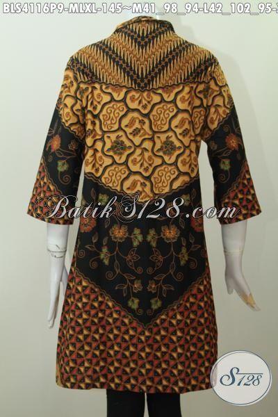 Sedia Pakaian Batik Klasik Wanita Muda Hingga Dewasa Motif Milo, Pakaian Batik Desain Berkelas Cocok Buat Seragam Kerja Kantoran, Size M – L – XL