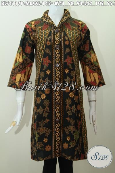 Baju Blus Istimewa Model Formal Motif Klasik Matahari, Pakaian Batik ...
