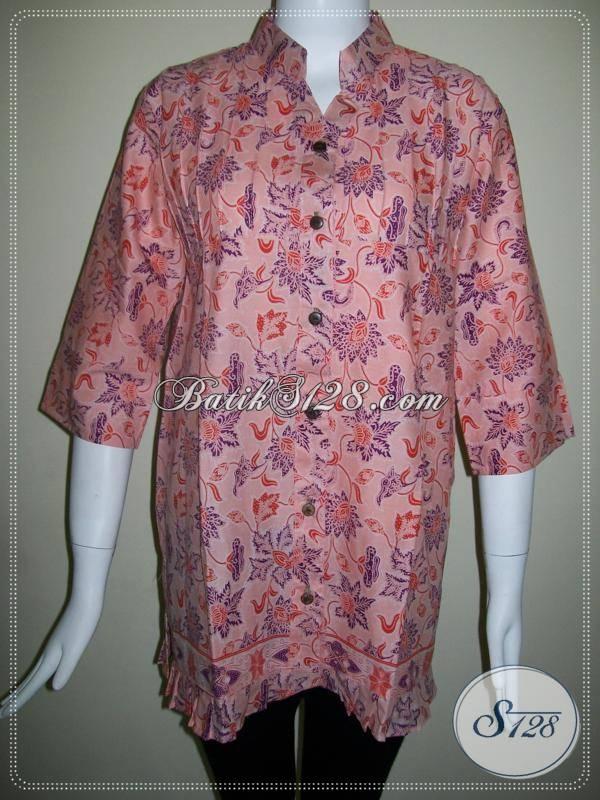 Baju Wanita BAtik Warna Soft,Batik Motif Bunga Untuk Wanita Cantik