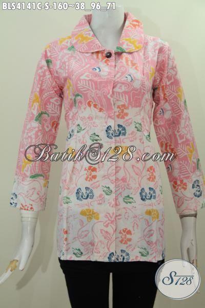 Baju Blus Dua Warna Busana Batik Berkelas Kombinasi Dua