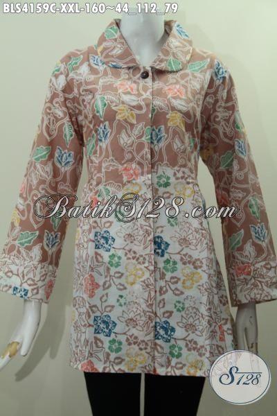 Busana Batik Ukuran XXL Bahan Adem Dan Berkwalitas Bagus, Pakaian Batik Istimewa Untuk Wanita Gemuk Tampil Keren Dan Gaya