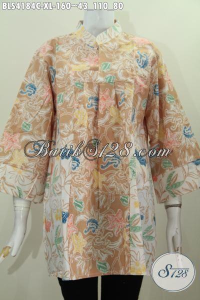 Batik Blus Ukuran Xl Dua Warna Baju Batik Modern Proses