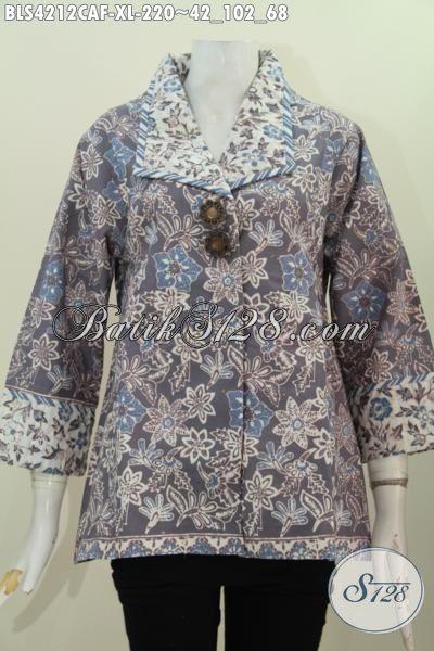 Baju Blus Size XL Desain Terbaru Yang Lebih Mewah Dan Modis, Pakaian Batik Cap Warna Alam Trend Terbaru Dengan Daleman Full Furing Yang Berkelas, Size XL