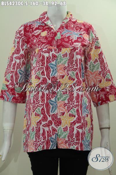 Produk Batik Blus Di Jual Online Harga Terjangkau, Busana Batik Wanita Muda Model Kerah Langsung Kwalitas Bagus Dan Istimewa Tampil Makin Mempesona, Size S