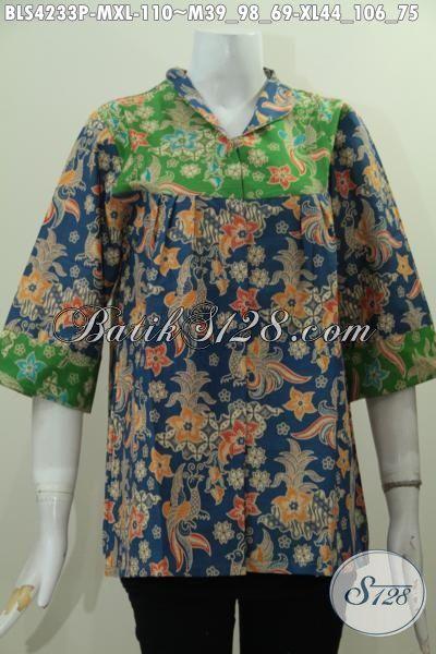 Baju Blus Model Terbaru Kerah Langsung, Pakaian Batik Istimewa Dari Solo Untuk Perempuan Muda Dan Dewasa Tampil Gaya Dan Modis, Proses Printing Hanya 100 Ribuan, Size M – XL