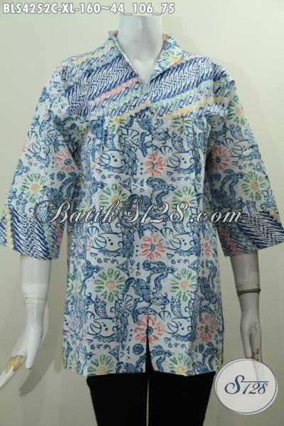 Toko Baju Batik Online Sedia Blus Batik Kerah Langsung Produk Terbaru Dari Solo, Hadir Dengan Desain Mewah Motif Trendy Proses Cap Harga Lebih Terjangkau, Size XL