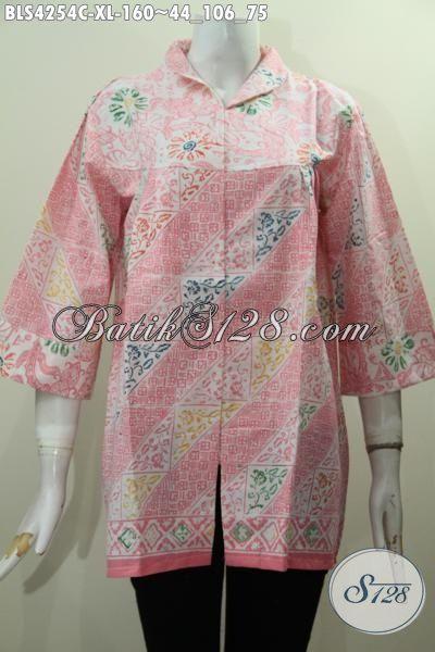 Aneka Pakaian Batik Wanita Terbaru Dengan Model Kerah Langsung Berpadu Bahan Halus Dan Adem, Baju Batik Motif Terkini Yang Bikin Penampil Lebih Feminim Serta Berkelas