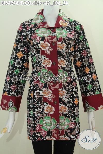 Juak Pakaian Batik 3l Model Blus Kerah Kotak Baju Batik