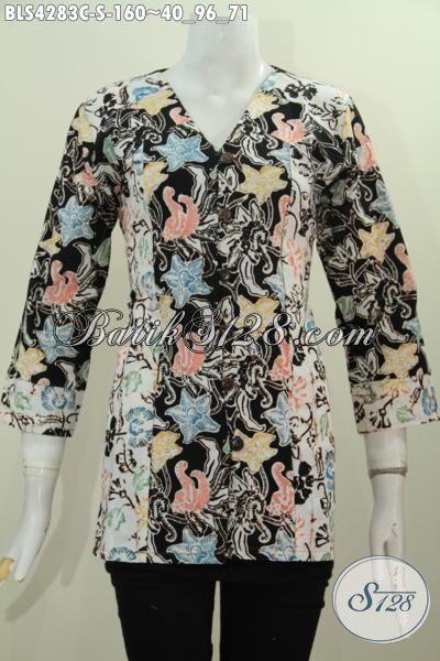Baju Blus Trendy Kwalitas Istimewa Buatan Solo Proses Cap, Busana Batik Terbaru Yang Membuat Penampilan Cewek Lebih Eksklusif, Size S
