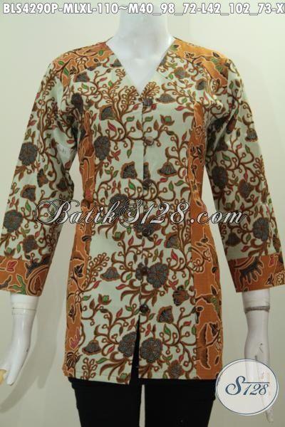 Pakaian Batik Wanita Dua Warna Kombinasi Motif Unik Dan Menarik, Pakaian Batik Wanita Muda Dan Dewasa Proses Printing Tampil Modis Dan Lebih Gaya, Size M – L – XL