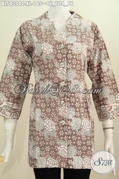 Busana Batik Elegan Kwalitas Bagus Harga Terjangkau, Baju BatikKerja Wanita Dewasa Size Bahan Adem Motif Trendy Proses Cap Asli Solo