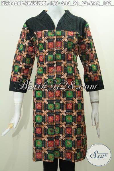 Baju Blus Keren Modis Halus Khas Solo, Produk Baju Blus Istimewa Warna Bagus Bahan Halus Kombinasi Embos Cocok Buat Pesta, Size S – M – L – XL – XXL