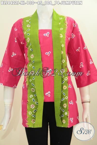 Jual Produk Baju Batik Kutubaru Motif Jumputan Proses Printing, Pakaian Batik Istimewa Bahan Adem Kwalitas Istimewa Untuk Wanita Dewasa Size XL