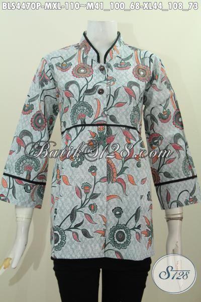 Baju Blus Istimewa Buat Wanita Muda Dan Dewasa, Produk Busana Batik Modis Proses Printing Kwalitas Istimewa Hanya 110K, Size M – XL