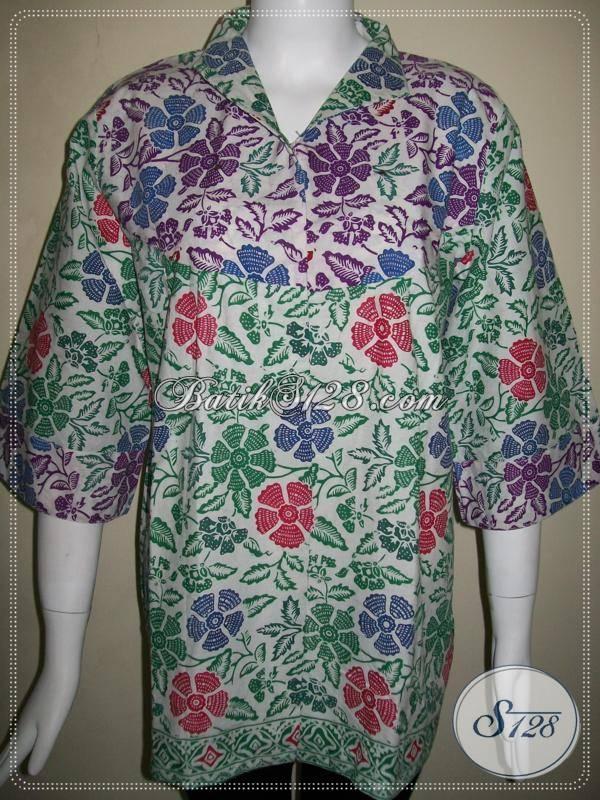 Batik Wanita Paduan Warna Ungu Dan Hijau,Kombinasi BAtik Cap Bledak Yang Pas Untuk Wanita Modern