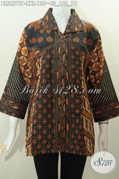 Baju Kerja Batik Klasik Perempuan Gemuk Busana Blus Batik