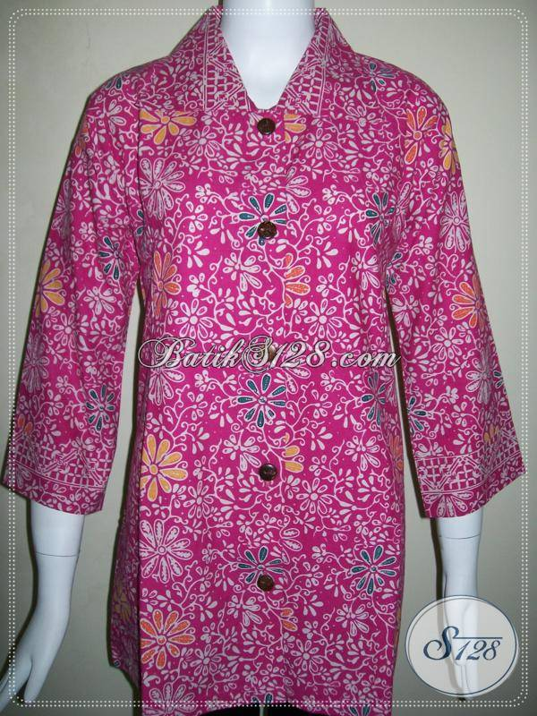 Blus Batik Trendy Wanita Modern Baju Batik Masa Kini Dan