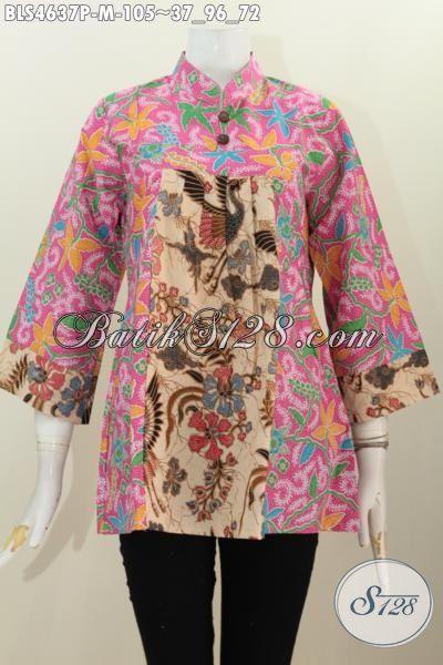 Blus Batik Kerah Shanghai Ukuran M Pake Kancing Jual Baju Batik