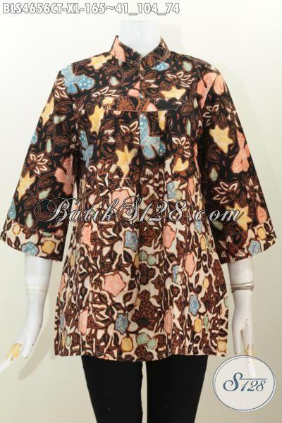 Jual Pakaian Batik Wanitas Dewasa, Hadir Dengan Desain Terkini Yang Lebih Berkelas, Produk Busana Batik Modern Proses Cap Tulis Yang Bikin Penampilan Lebih Cantik Dan Menarik, Size XL
