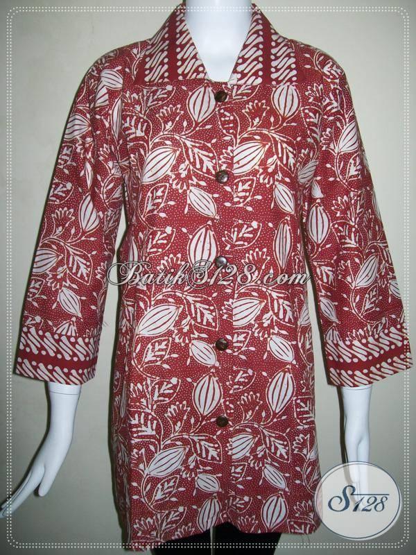 Baju Batik Motif Terlaris Dan Modern Asli Batik Solo,Butik Aneka Batik Elegan [BLS466C-XXL]