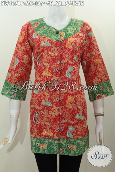 Baju Blus Trendy Kombinasi Dua Warna Pakaian Batik Keren