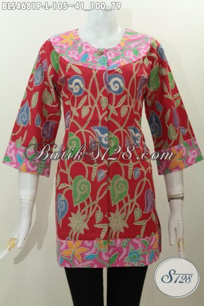 Sedia Pakaian Batik Perempuan Ukuran Desain Dua Warna Yang Unik Dan Keren, Berbahan Halus Motif Terkini Proses Printing Modis Untuk Ke Pesta