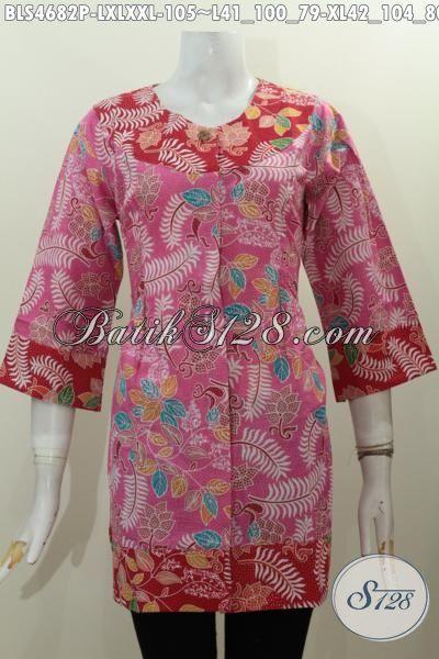 Agen Baju Baju Modern Khas Jawa Tengah, Sedia Blus kombinai Dua Warna Model Berkelas Bahan Halus Harga Terjangkau Proses Printing Motif Trendy Ukuran L -XL – XXL