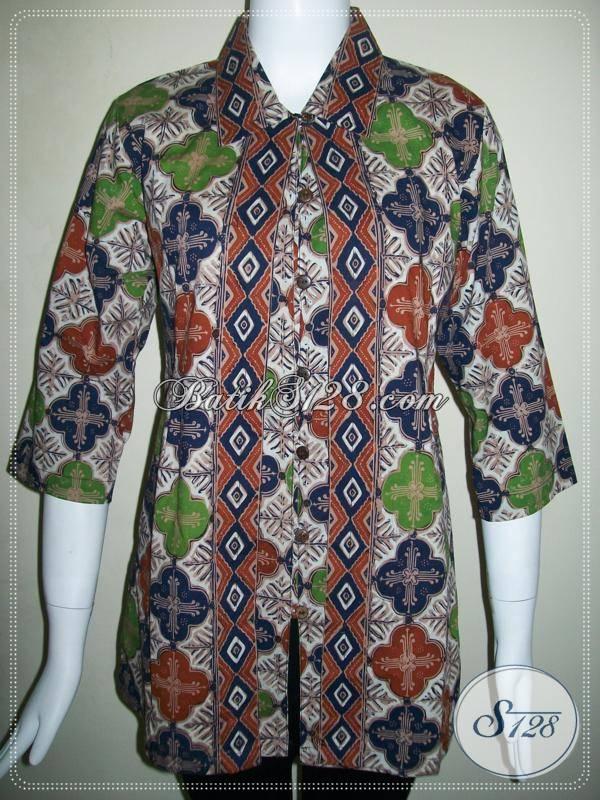 Model Baju Batik Wanita Terbaru Model Blus Batik Wanita Berompi