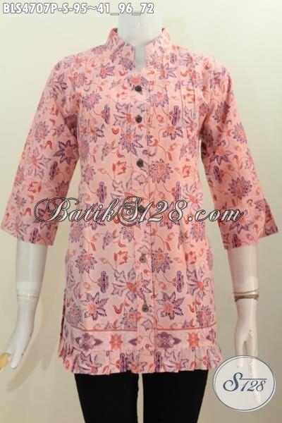 Blus Batik Trendy Warna Kalem Motif Bagus Harga Di Bawah 100 Ribu, Baju Batik Istimewa Trend Terkini Untuk Penampilan Makin Modis Dan Keren, Size S