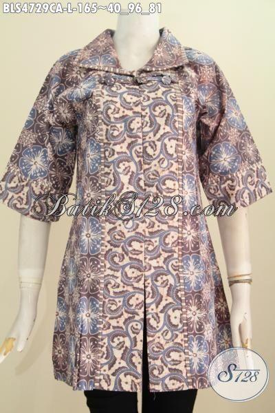 Baju Batik Elegan Desain Formal Cocok Untuk Seragam Kerja ...