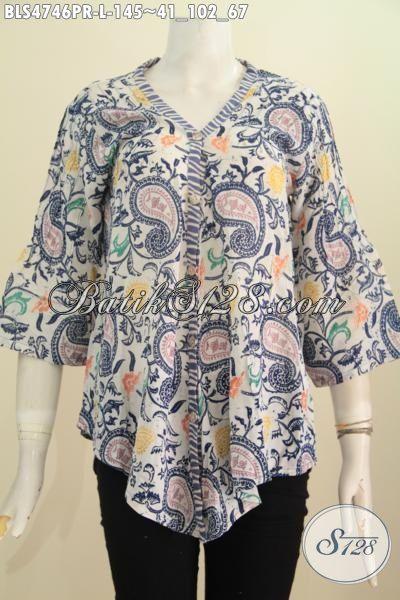 Pakaian Batik Modern Bahan Paris Dengan Motif Unik Menunjang Penampilan Lebih Stylish, Hadir Dengan Desain Berkelas Proses Cap Cewek Terlihat Makin Mempesona, Size L