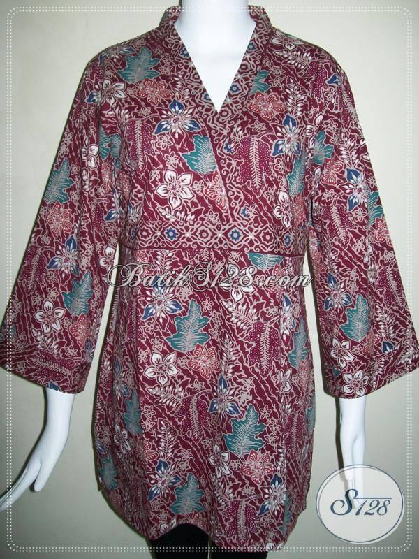 Blus Batik Murah Untuk Wanita Pekerja Kantor [BLS475CT-XL]