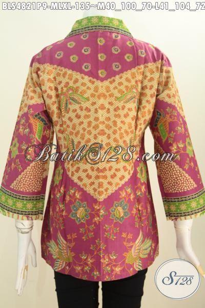 Jual Pakaian Batik ELegan Halus Motif Sinaran, Busana Batik Halus Kwalitas Istimewa Proses Printing Desain Mewah Yang Mampu Bikin Perempuan Terlihat Spesial, Size M – L – XL