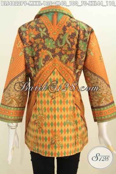 Aneka Baju Batik Istimewa Spesial Untuk Wanita Karir Tampil Modis Dan Berkelas, Baju Batik Halus Proses Printing Bahan Adem Buatan Solo Harga Terjangkau, Size M – XXL