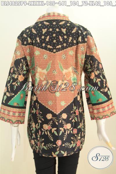 Pakaian Batik Istimewa Berbahan Halus Proses Printing, Baju Batik Sinaran Lengan Tujuh Perdelapan Elegan Untuk Acara Formal, Size L – XL – XXL