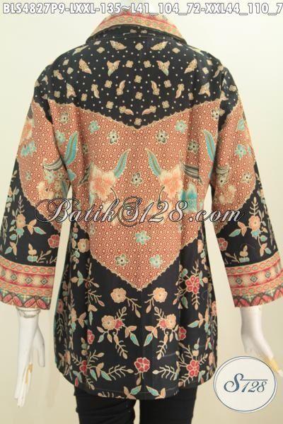 Jual Online Produk Busana Batik Istimewa Berbahan Halus Motif Klasik Sinaran Proses Printing, Spesial Untuk Wanita Karir Tampil Terlihat Mempesona, Size L – XXL