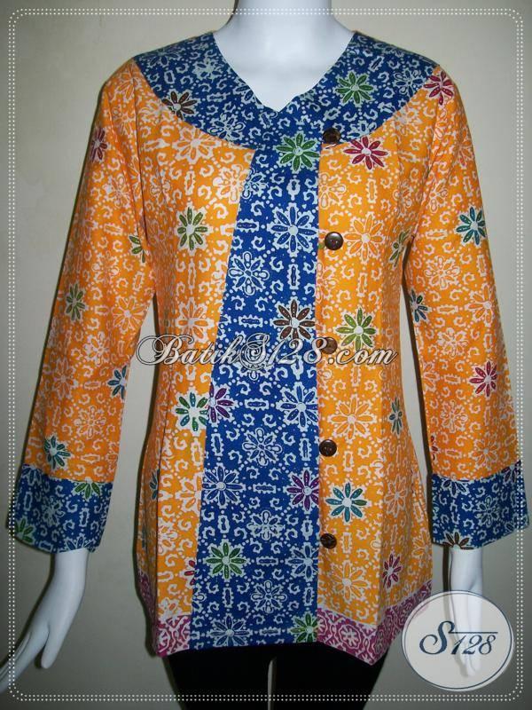 Busana Batik Wanita untuk Seragam Kantor Model Terbaru