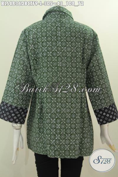 Jual Online Baju Blus Istimewa Bahan Batik Dengan Desain Trendy Dan Berkelas, Produk Pakaian Batik Modern Buatan Solo Harga Terjangkau Untuk Penampilan Makin Mempesona, Size L