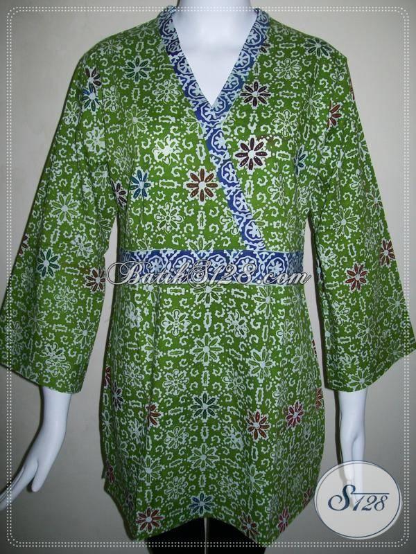 Toko Batik Online Baju Wanita Mode Kimono,Butik Batik Wanita Model Kimono [BLS485C-XL]