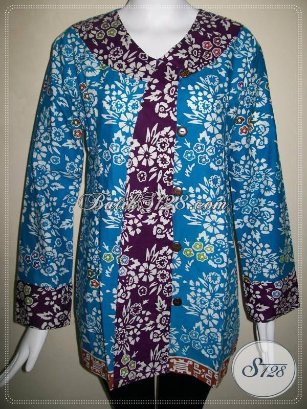 Baju Batik Model Baru,Blus Batik Wanita Asli BAtik Solo [BLS486C-XL]