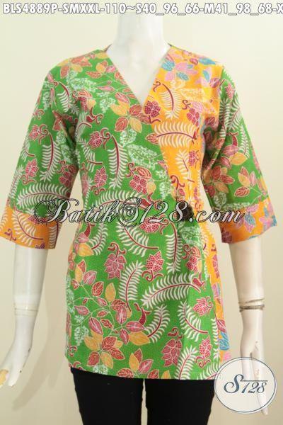 Blus Batik Modern Model Keren, Pakaian Batik Kimono Kwalitas Istimewa Harga Biasa, Proses Printing Size S – M – XXL