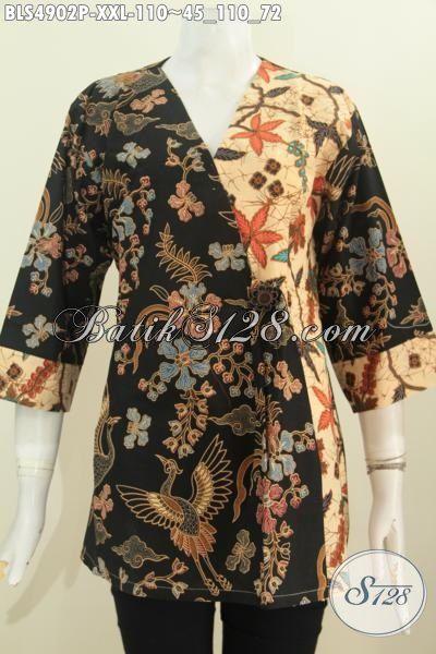 Toko Online Batik Jawa Tengah, Jual Blus Kimono Motif Trendy Warna Elegan Kwalitas Istimewa Dengan Harga Biasa, Cocok Buat Kerja Dan Kondangan, Size XXL